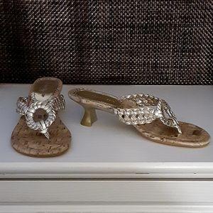 "Hilliard & Hanson Gold "" Ringer"" Sandals"